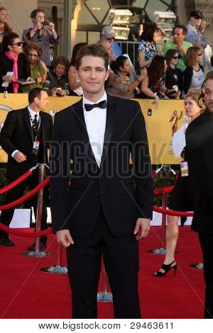 LOS ANGELES - JAN 29:  Matthew Morrison arrives at the 18th Annual Screen Actors Guild Awards at Shrine Auditorium on January 29, 2012 in Los Angeles, CA