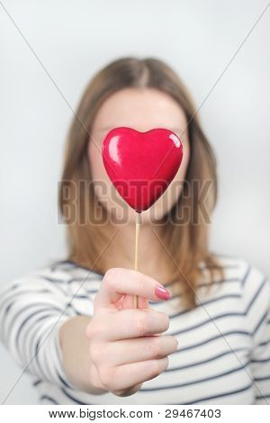 Valentines heart woman