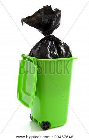Green Garbage Bag