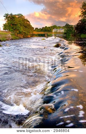 Evening Light Over Weir