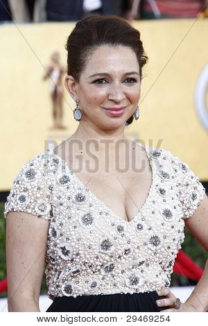 LOS ANGELES, CA - JAN 29: Maya Rudolph at the 18th annual Screen Actor Guild Awards at the Shrine Auditorium on January 29, 2012 in Los Angeles, California