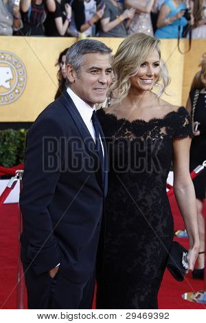 LOS ANGELES, CA - 29 de enero: George Clooney en la anual 18 Screen Actor Guild Awards en el Santuario