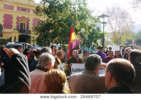 Demonstrations in Seville