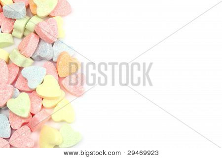 Candy hearts border
