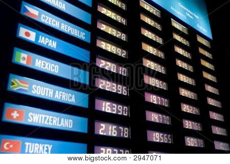 Currency Exchange Rate-board