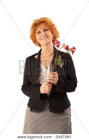 Grandmother With Withered Flowers.