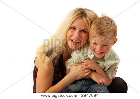Happy Family: Mom And Son.