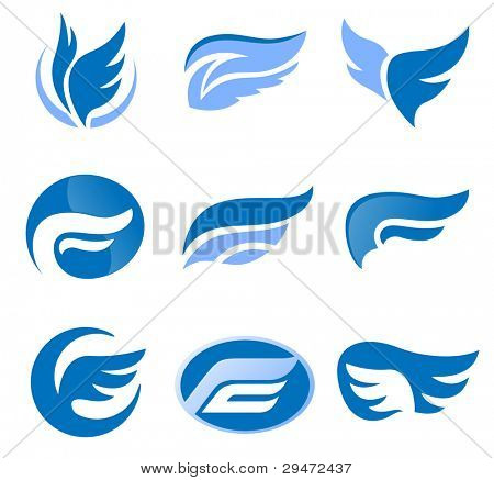 Road. Abstract element set of emblem templates