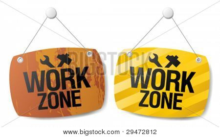 Work zone signs set.