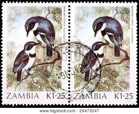 Two 1.25-kwacha Stamps Printed In Zambia