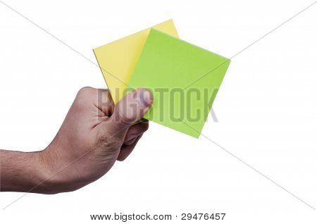 Yellow&Green memo paper