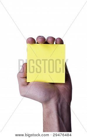 Yellow memo paper