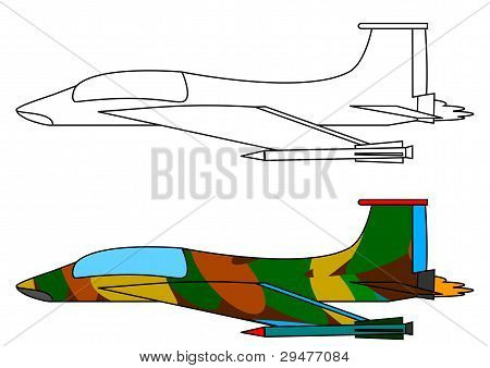 Military fighter aircraft - a coloring book