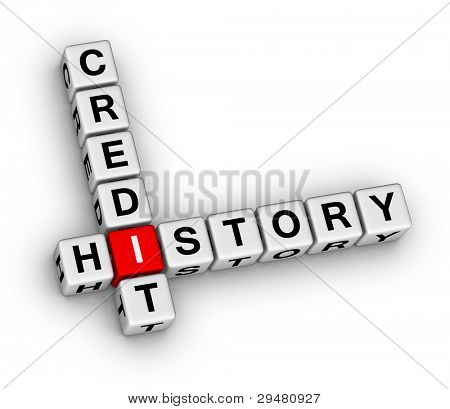 credit history 3d crossword puzzle