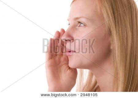 Girl Whispering