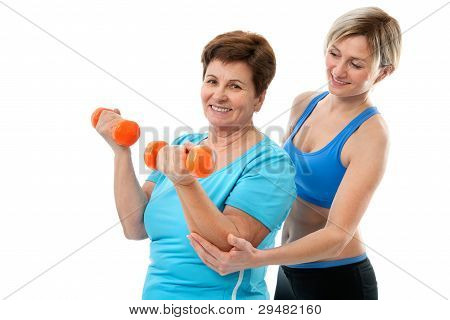 Senior Woman In Gym