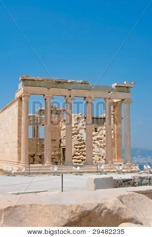 Famous Acropolis In Athens, Greece