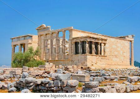 Caryatids In Erechtheum, Acropolis