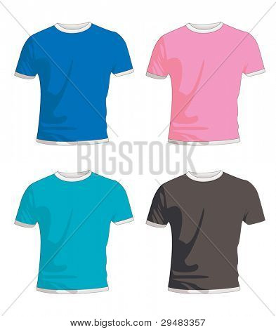 Collection of four mens fashion t shirts in colour