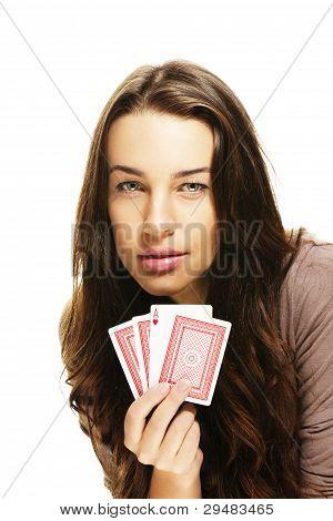 tenso procurando mulher jogando poker