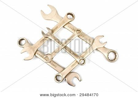 The crossed wrenches