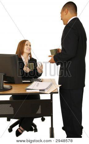 Business People Talking During Break
