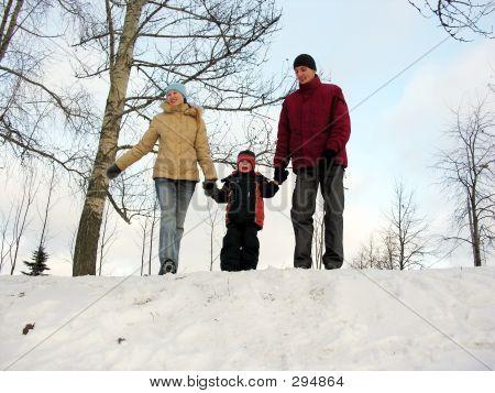 Family Of Three . Winter.