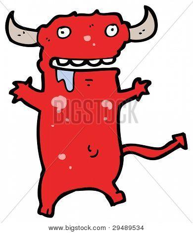 drooling devil cartoon (raster version)