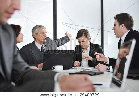 Business meeting and working people