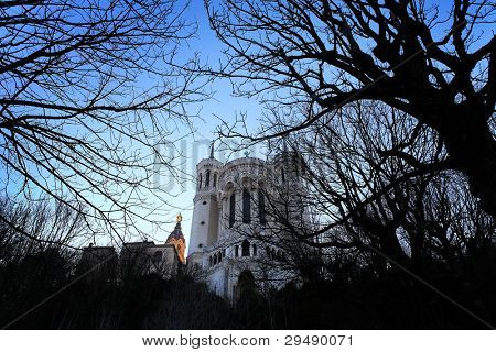 Fourviere Basilica in Lyon (France)
