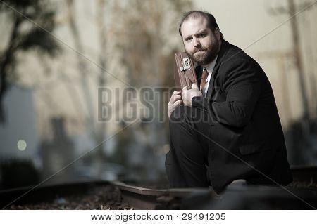 Homem de negócios desesperada