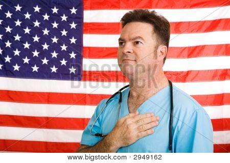 Patriotic American Doctor