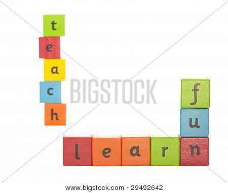 Learning Alphabet Blocks.