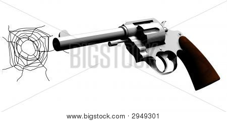 Gun With Bullet Hole