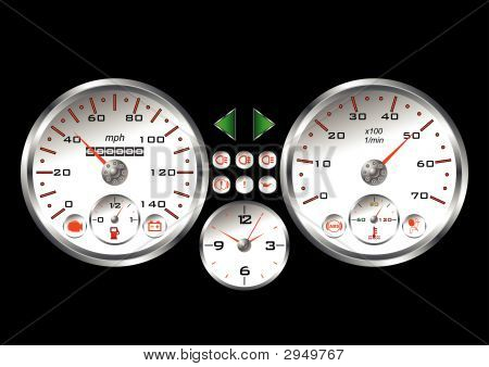 White Sportif Dashboard