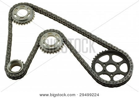 Set Of Chains With Gears