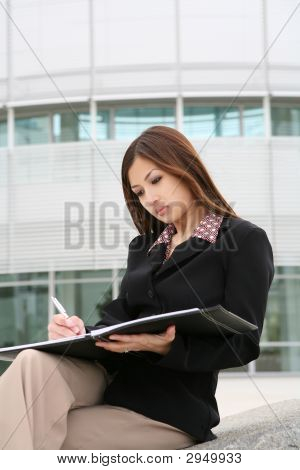 schöne asian Business-Frau