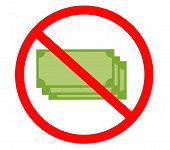 No Bank Icon On White Background. Flat Style. No Money Icon For Your Web Site Design, Logo, App, Ui. poster