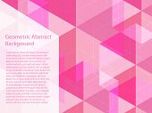 Beautiful Classic Neon Pink Colors And White Polygon Shape In Minimal Modern Trendy Geometric Concep poster