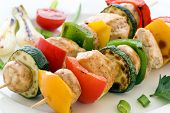 stock photo of braai  - Shashlik Skewer - JPG