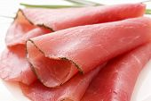 picture of smoked ham  - Rolled Fillet of Ham - JPG