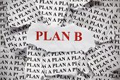 Torn Pieces Of Paper With The Phrase plan A And Phrase plane B In Red Color. Concept Image. Clos poster