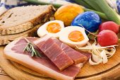 stock photo of flesh air  - Easter Breakfast - JPG