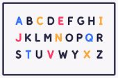 Modern Alphabet Font. Capital Letters Of The Latin Alphabet. poster