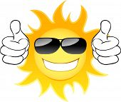 stock photo of humidity  - Smiling sun with glasses - JPG