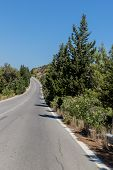 Winding Asphalt Road In The Mountains. Breathtaking Landscape And Nature.winding Serpentine.road To  poster