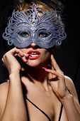 pic of incognito  - Close up shot of gorgeous Incognito woman in ancient style mask - JPG