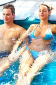 pic of hot-tub  - Couple in jacuzzi - JPG