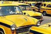 pic of beetle car  - Big parking of retro taxi in Delhi - JPG