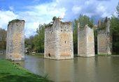 Medieval Bridge Ruins In France poster